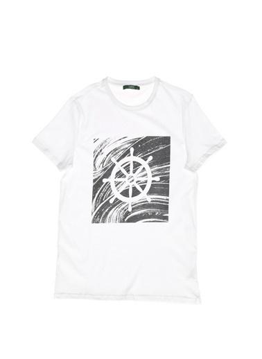 Limon Company Bisiklet Yaka Tişört Beyaz